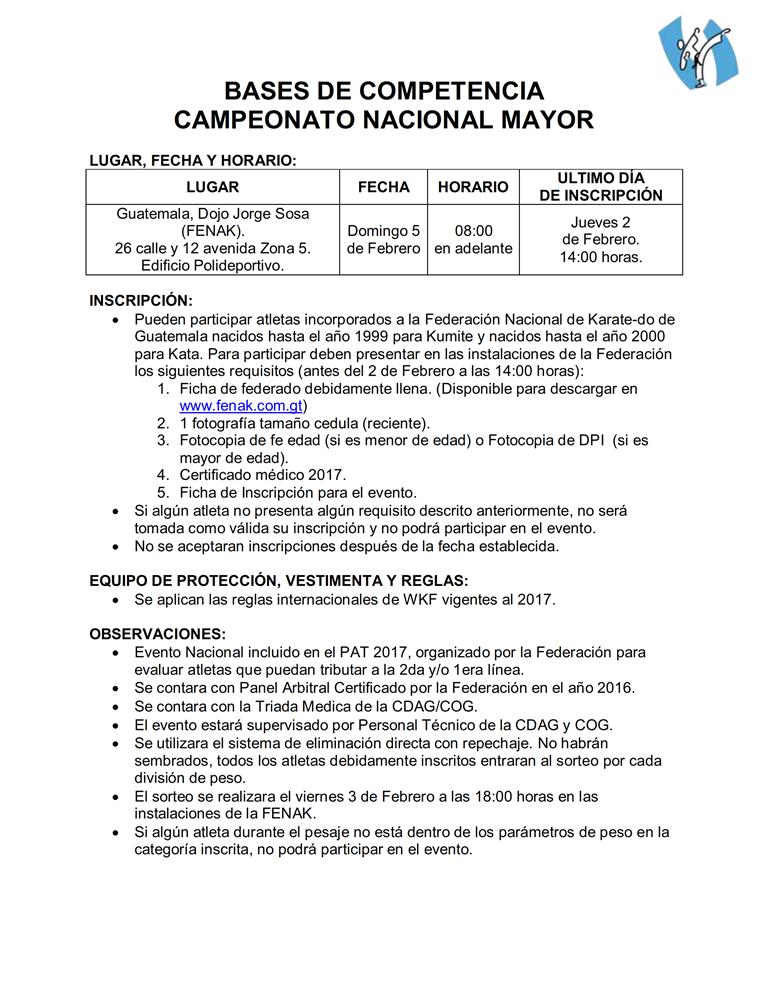 BASES DE COMPETENCIA NACIONAL MAYOR GUATEMALA 002