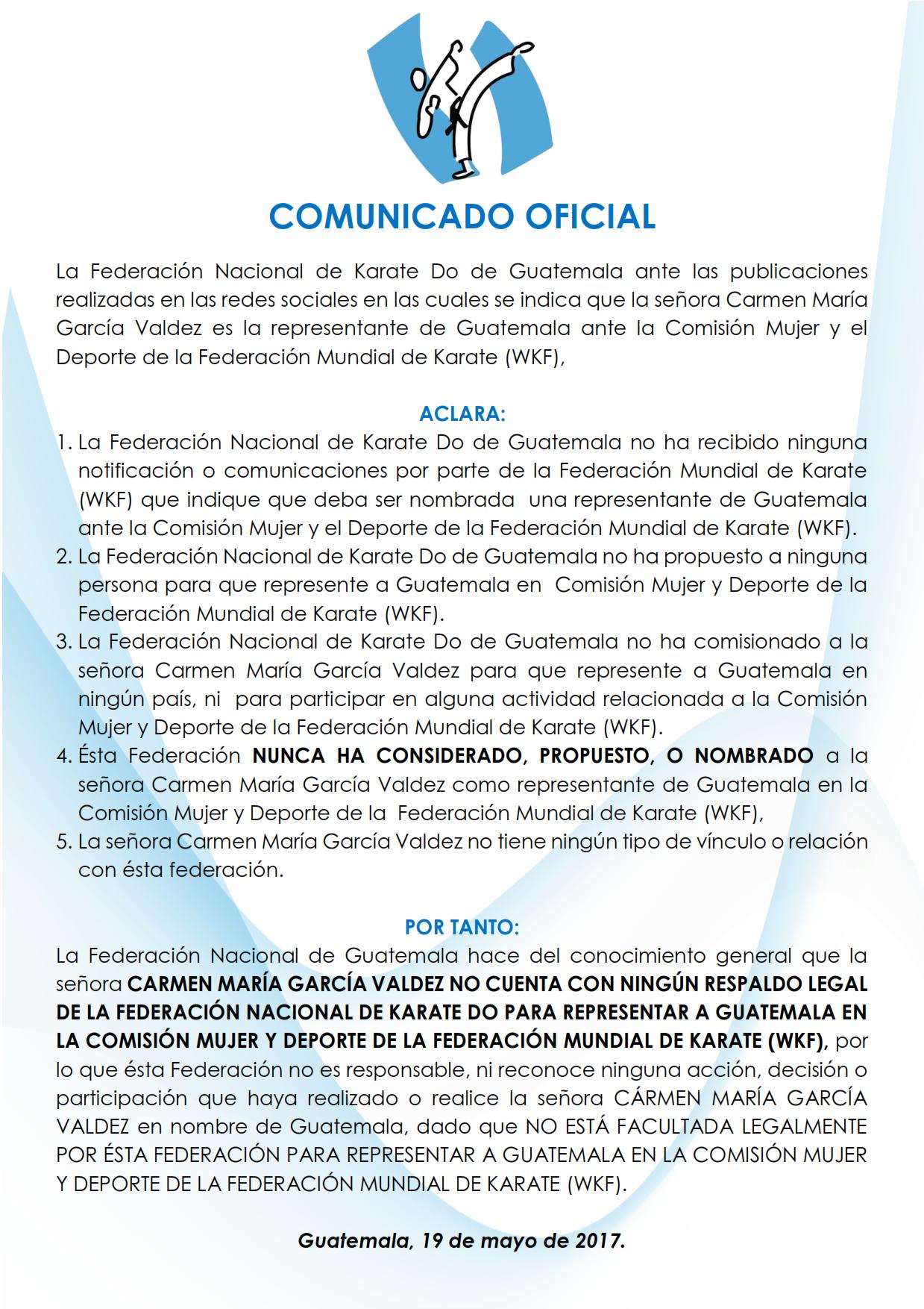 COMUNICADO OFICIAL1 001