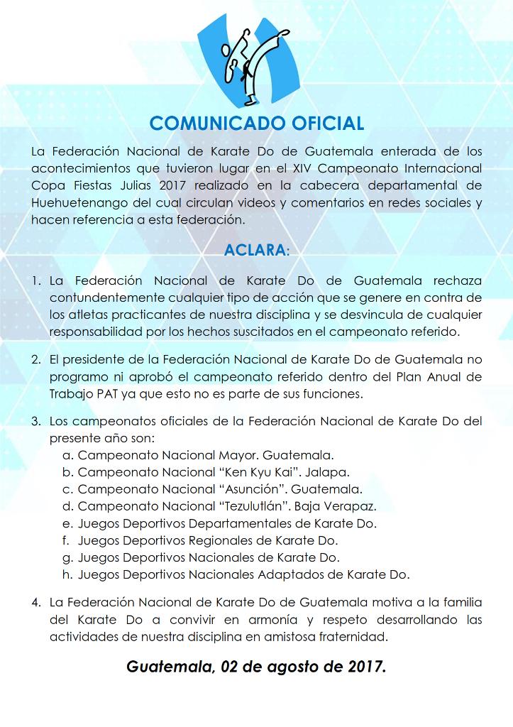 COMUNICADO OFICIAL3 001
